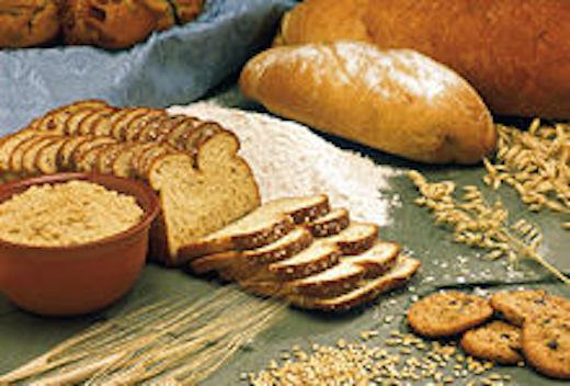 Nussbrot, Mehl und getreide