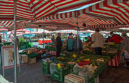 Gemüsestand in Nürnberg