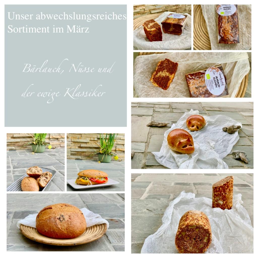 Verschiedene Produkte der Bäckerei Gradwohl