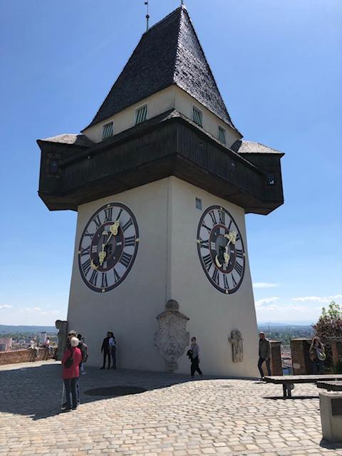 Der Uhrturm Wahrzeichen von Graz