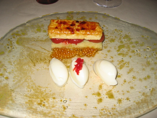 Dessert im Restaurant Auberge de l'ill von Paul Haeberlin (französischer Koch)