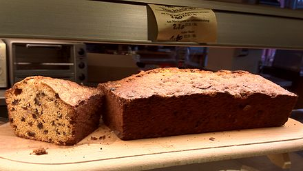 Kuchen aus einer kastenform