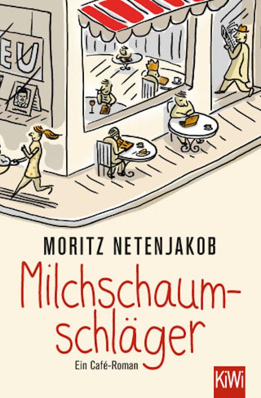 buchcover von Milchschaumschläger (gezeichnetes Café)