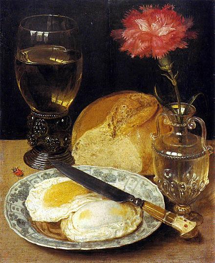 Imbiss mit Spiegeleiern (Gemälde von Georg Flegel)