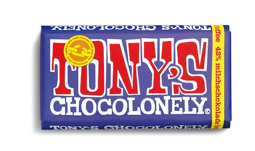 Dunkle Vollmilchschokolade Brezel Toffee von tony's Chocolonely